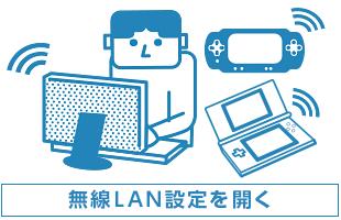 無線LANの設定画面を開く