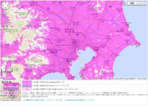 関東地方のサービスエリアマップ