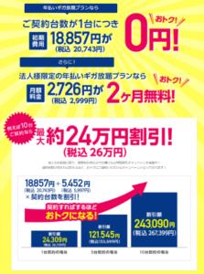 Broad WiMAXの法人契約向けキャンペーン
