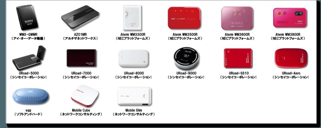 WiMAX機器・モバイルルーター