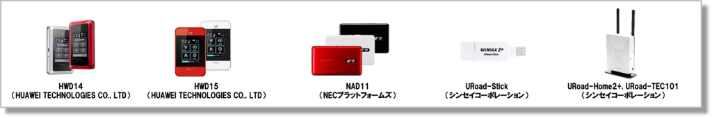 WiMAX2+・ノーリミットモード対応端末