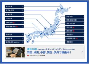 グローバルWiFIの国内空港カウンター