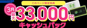 GMO WiMAXのキャッシュバックキャンペーン(2021年3月)